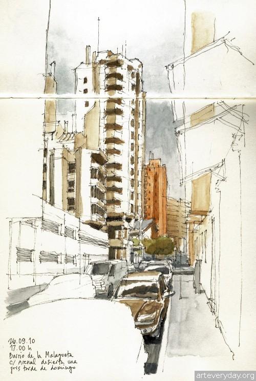 9 | Архитектурные зарисовки | ARTeveryday.org