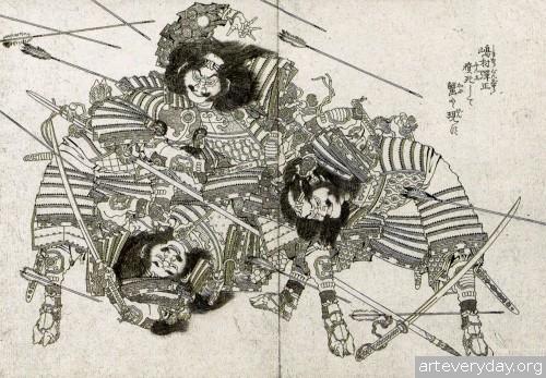 13 | Кацусика Хокусай - Katsushika Hokusai. Японская книжная графика | ARTeveryday.org