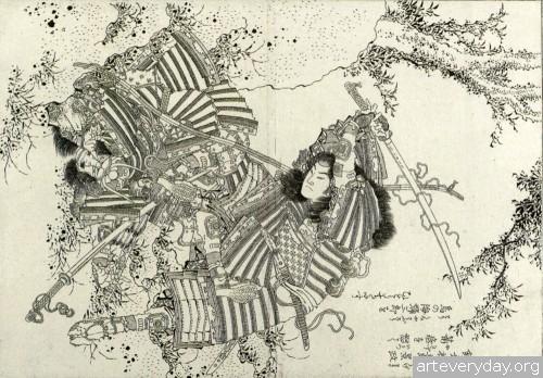 15 | Кацусика Хокусай - Katsushika Hokusai. Японская книжная графика | ARTeveryday.org