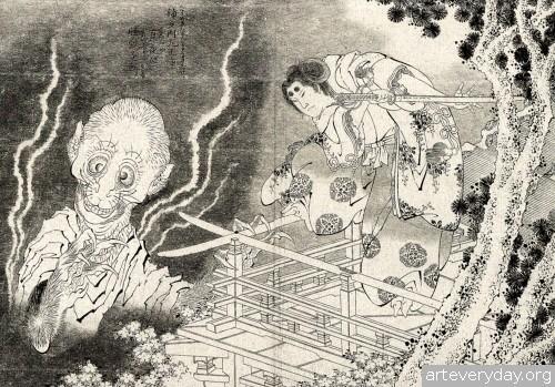 16 | Кацусика Хокусай - Katsushika Hokusai. Японская книжная графика | ARTeveryday.org