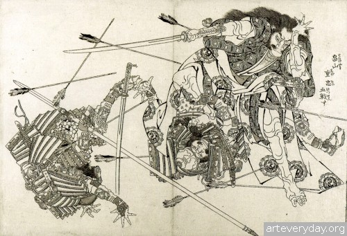 5 | Кацусика Хокусай - Katsushika Hokusai. Японская книжная графика | ARTeveryday.org