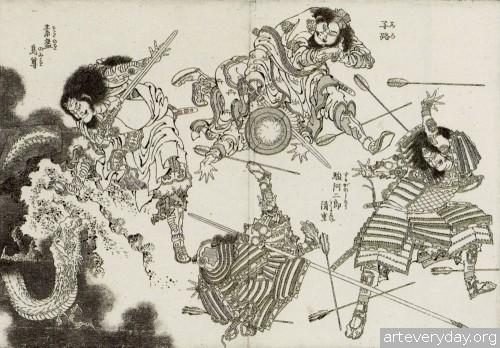 8 | Кацусика Хокусай - Katsushika Hokusai. Японская книжная графика | ARTeveryday.org