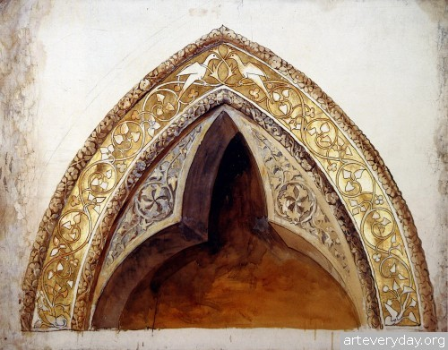10 | John Ruskin - Джон Рескин. Архитектура в акварели | ARTeveryday.org