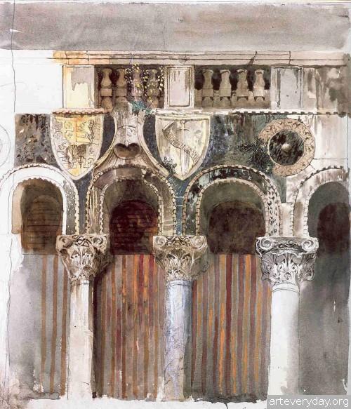 12 | John Ruskin - Джон Рескин. Архитектура в акварели | ARTeveryday.org