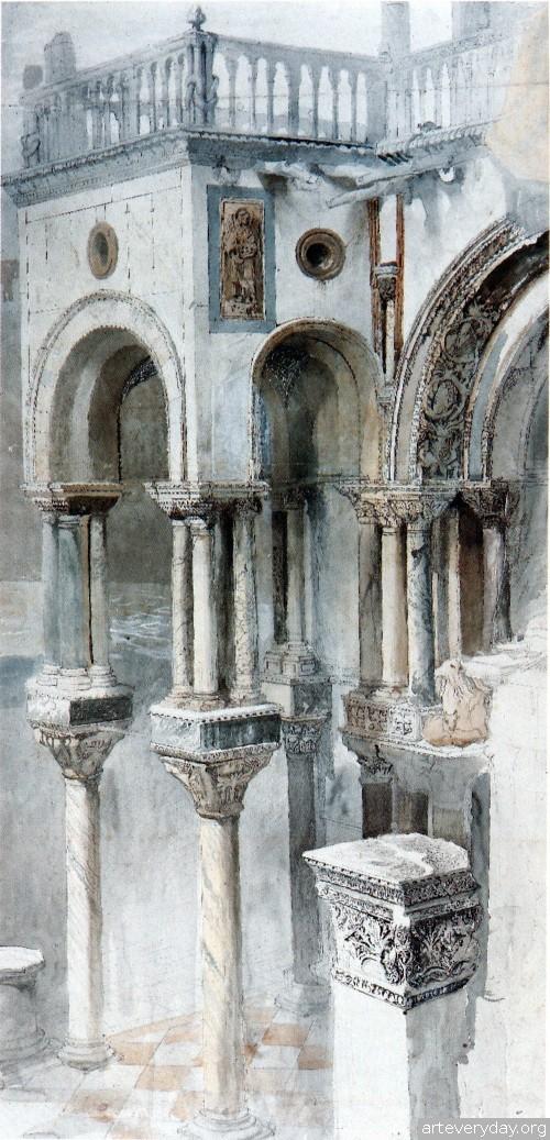 13 | John Ruskin - Джон Рескин. Архитектура в акварели | ARTeveryday.org
