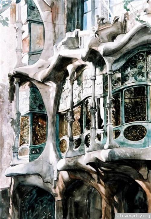 15 | Paul Dmoch. Архитектор и акварелист | ARTeveryday.org