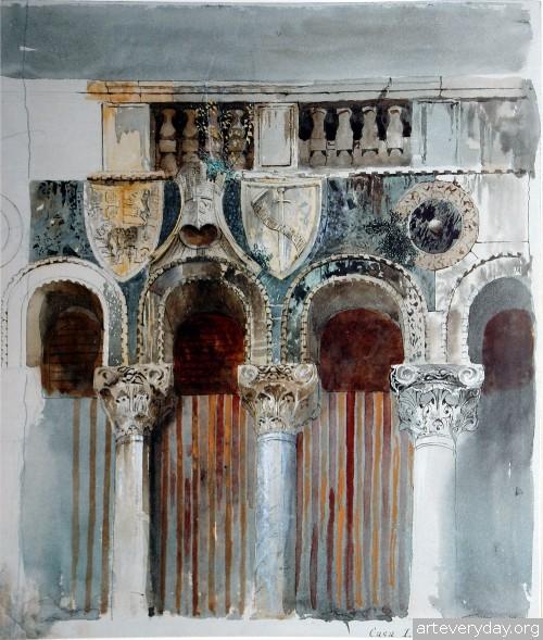 2 | John Ruskin - Джон Рескин. Архитектура в акварели | ARTeveryday.org