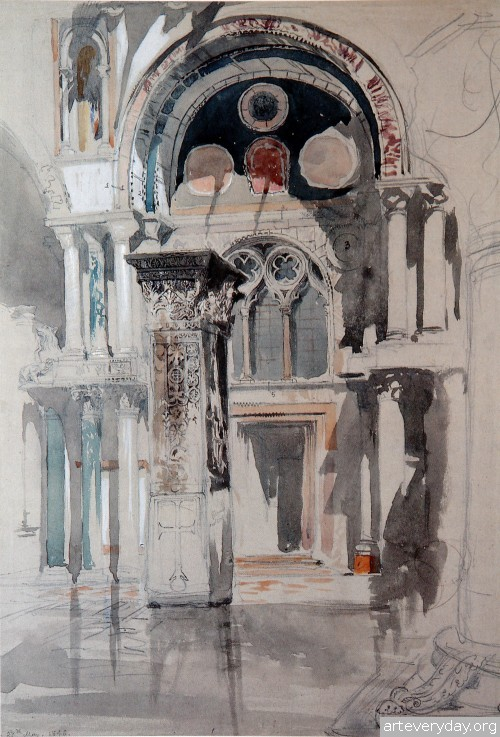 3 | John Ruskin - Джон Рескин. Архитектура в акварели | ARTeveryday.org