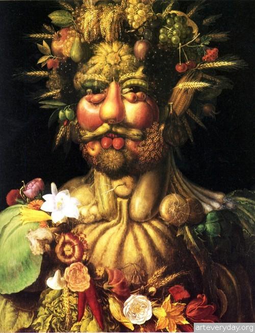 3 | Arcimboldo Giuseppe - Арчимбольдо Джузеппе. Фантастические портреты | ARTeveryday.org