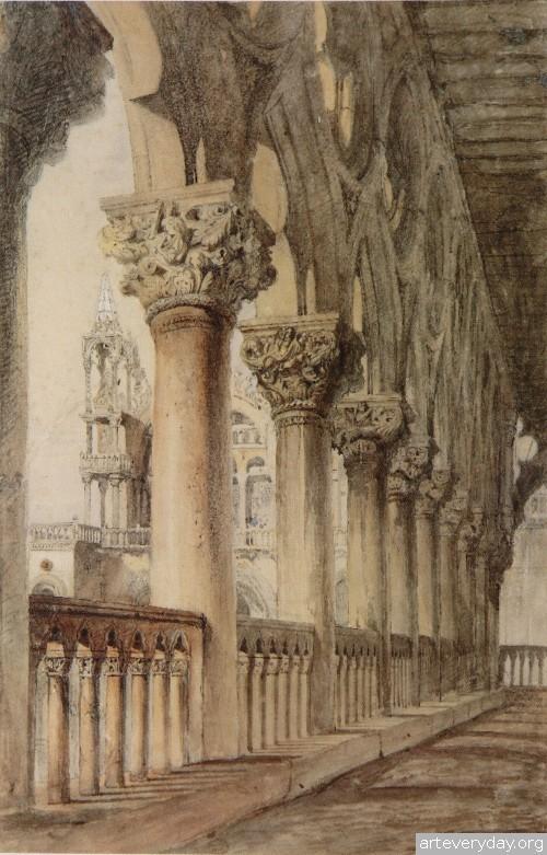 5 | John Ruskin - Джон Рескин. Архитектура в акварели | ARTeveryday.org