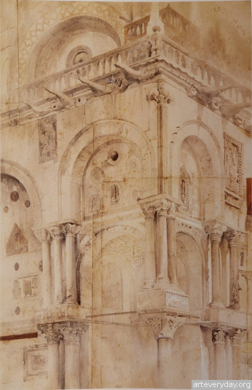 7 | John Ruskin - Джон Рескин. Архитектура в акварели | ARTeveryday.org