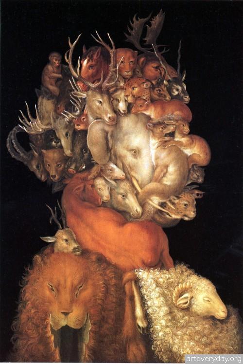 7 | Arcimboldo Giuseppe - Арчимбольдо Джузеппе. Фантастические портреты | ARTeveryday.org