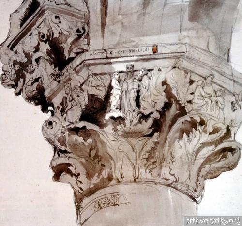 8 | John Ruskin - Джон Рескин. Архитектура в акварели | ARTeveryday.org