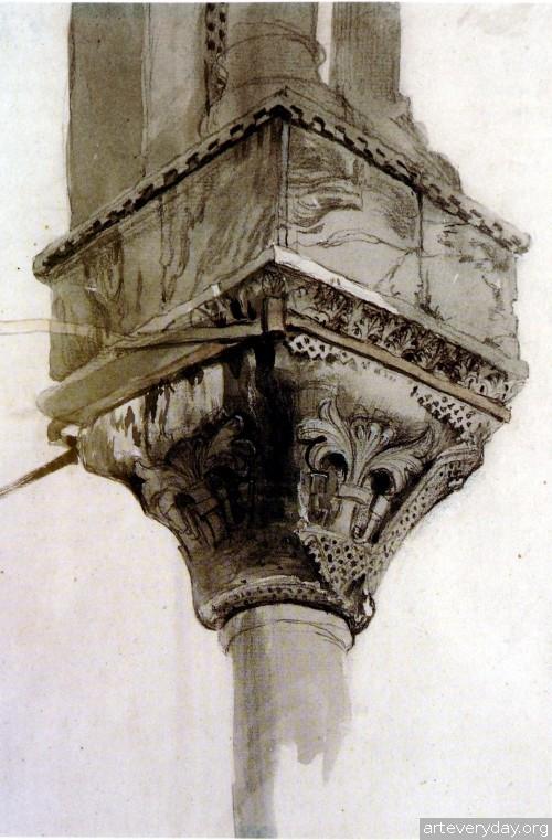 9 | John Ruskin - Джон Рескин. Архитектура в акварели | ARTeveryday.org