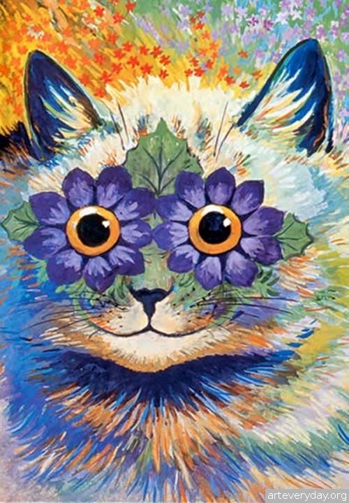 Louis William Wain - Луис Уильям Уэйн. Кошки и шизофрения | ARTeveryday.org