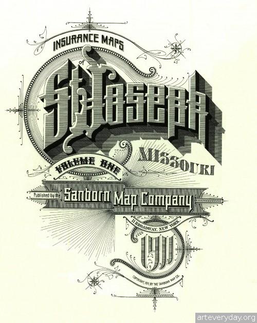 Заголовки к картам страховой компаний «Sanborn» | ARTeveryday.org