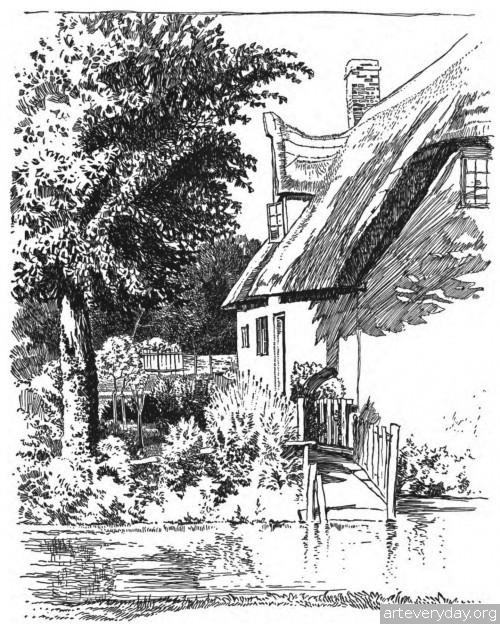 10 | Английская деревня начала XX века. Зарисовки | ARTeveryday.org