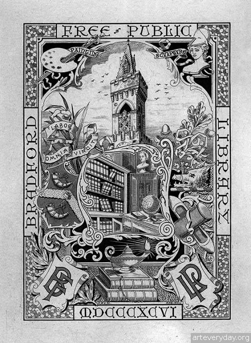 10 | Коллекция экслибрисов конца XIX - начала XX века. Часть 1 | ARTeveryday.org