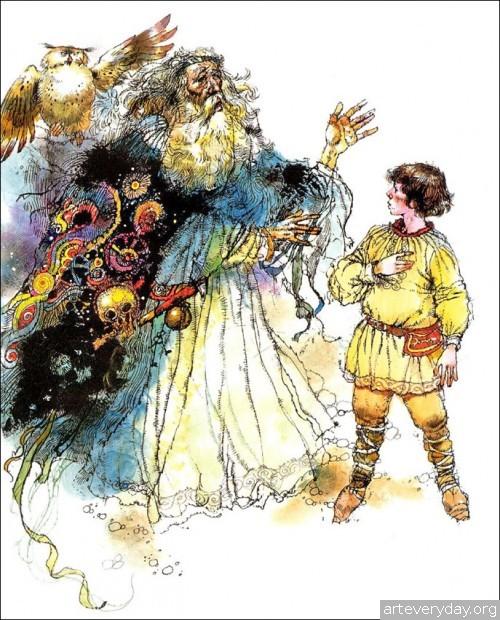 10 | Книжные иллюстрации Виктора Амбруса. Король Артур | ARTeveryday.org
