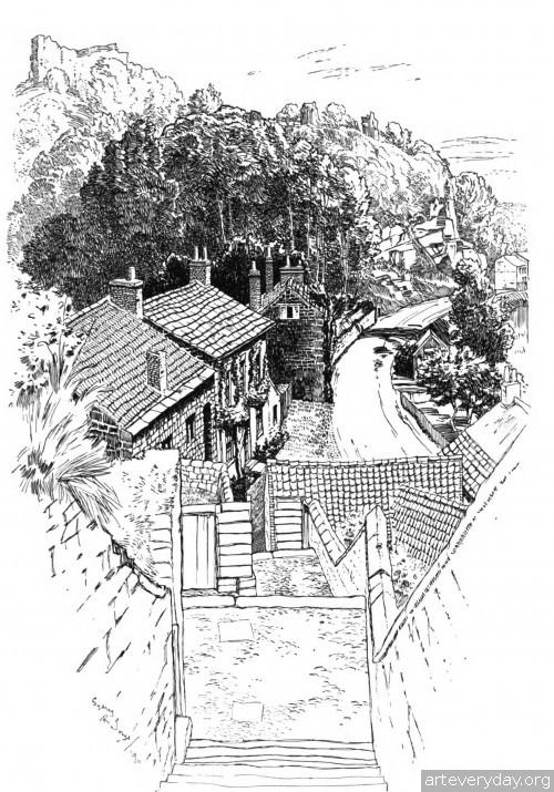 11 | Английская деревня начала XX века. Зарисовки | ARTeveryday.org