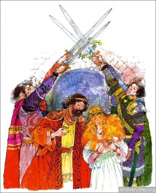 1 | Книжные иллюстрации Виктора Амбруса. Король Артур | ARTeveryday.org