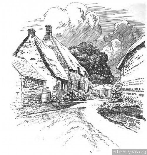 12 | Английская деревня начала XX века. Зарисовки | ARTeveryday.org