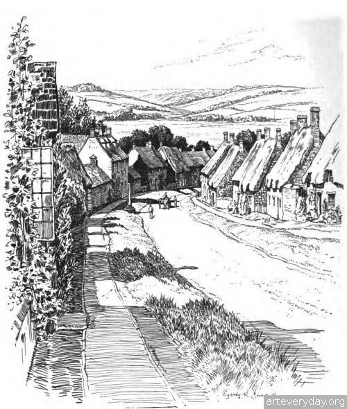 13 | Английская деревня начала XX века. Зарисовки | ARTeveryday.org