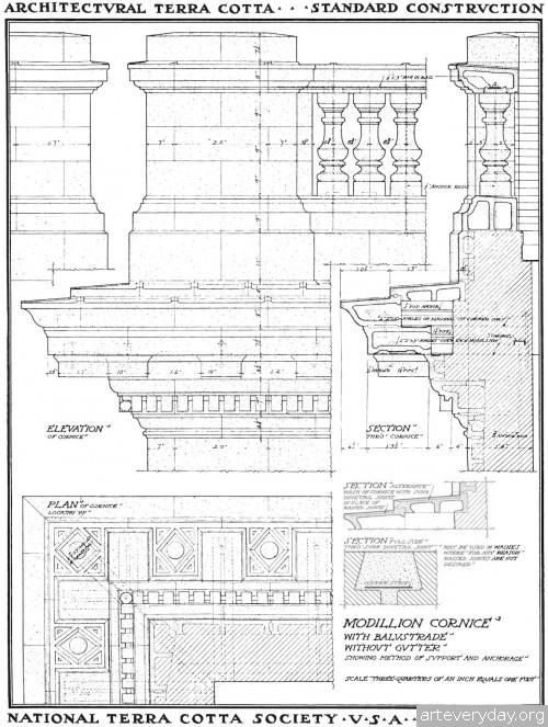 2 | Архитектурная терракота. Чертежи фасадов и деталей | ARTeveryday.org