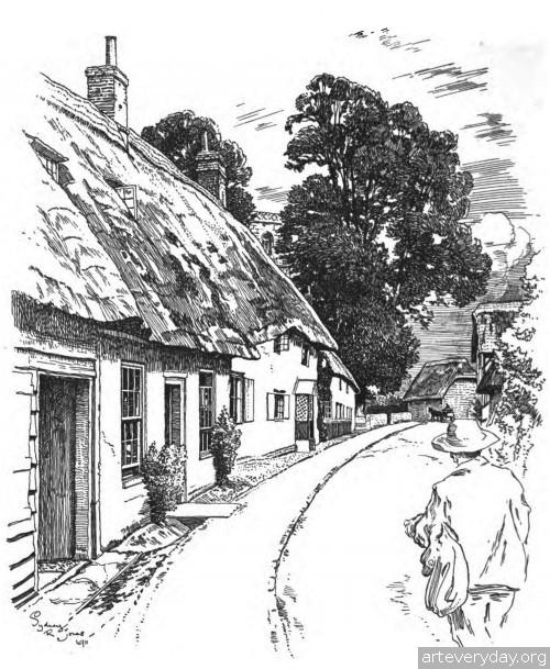 3 | Английская деревня начала XX века. Зарисовки | ARTeveryday.org
