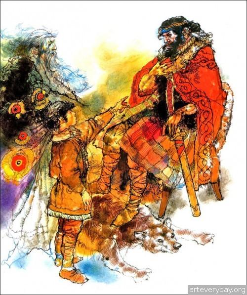 3 | Книжные иллюстрации Виктора Амбруса. Король Артур | ARTeveryday.org