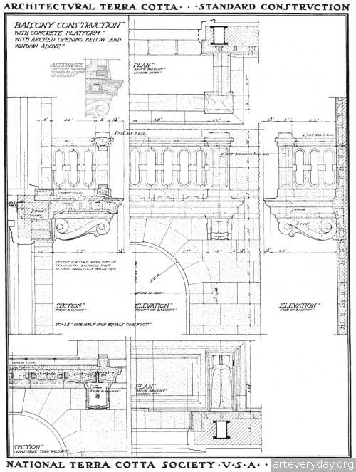 4 | Архитектурная терракота. Чертежи фасадов и деталей | ARTeveryday.org