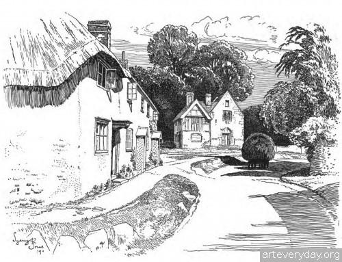 4 | Английская деревня начала XX века. Зарисовки | ARTeveryday.org