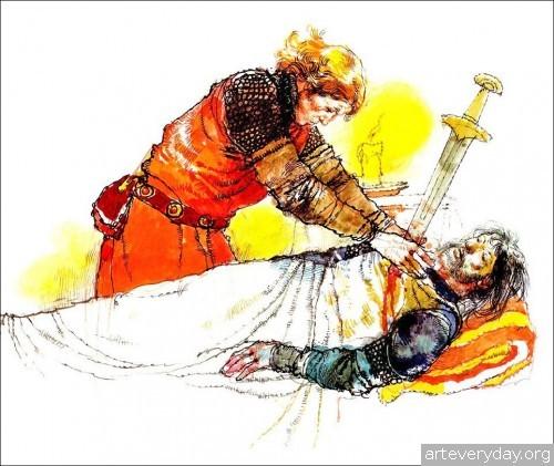 4 | Книжные иллюстрации Виктора Амбруса. Король Артур | ARTeveryday.org