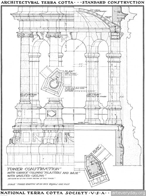 5 | Архитектурная терракота. Чертежи фасадов и деталей | ARTeveryday.org