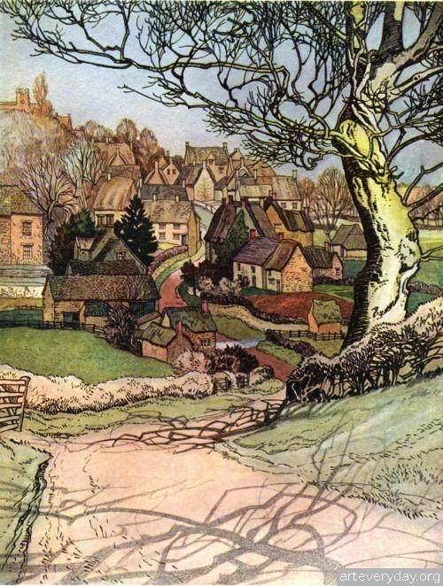 5 | Английская деревня начала XX века. Зарисовки | ARTeveryday.org