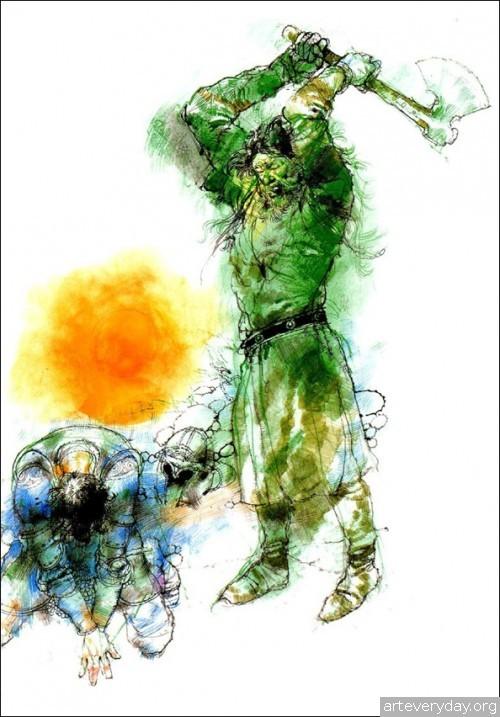 5 | Книжные иллюстрации Виктора Амбруса. Король Артур | ARTeveryday.org