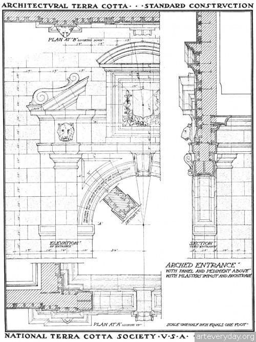 6 | Архитектурная терракота. Чертежи фасадов и деталей | ARTeveryday.org