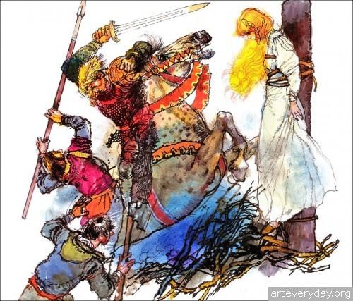 6 | Книжные иллюстрации Виктора Амбруса. Король Артур | ARTeveryday.org