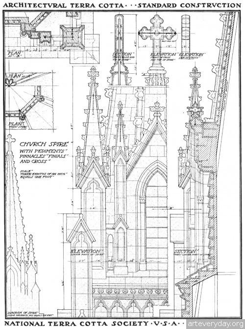 7 | Архитектурная терракота. Чертежи фасадов и деталей | ARTeveryday.org