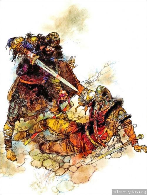 7 | Книжные иллюстрации Виктора Амбруса. Король Артур | ARTeveryday.org