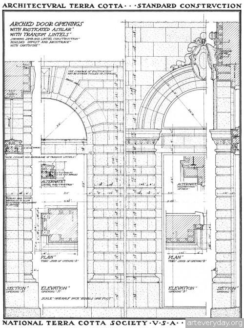 8 | Архитектурная терракота. Чертежи фасадов и деталей | ARTeveryday.org