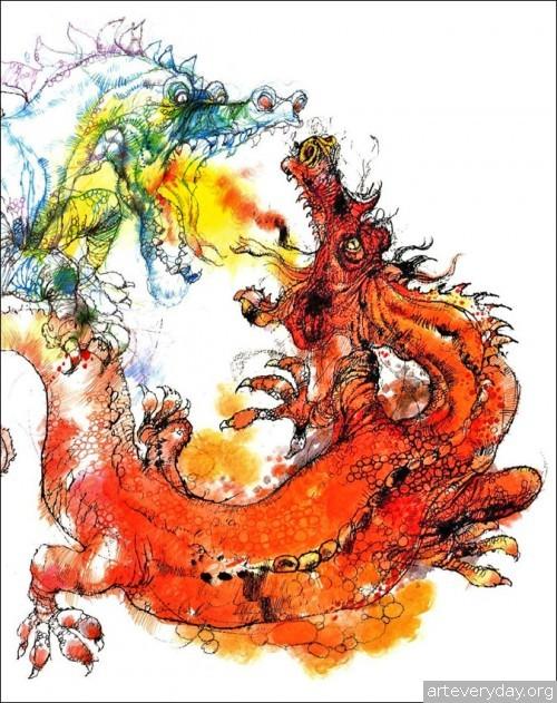 8 | Книжные иллюстрации Виктора Амбруса. Король Артур | ARTeveryday.org