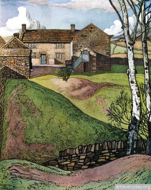 9 | Английская деревня начала XX века. Зарисовки | ARTeveryday.org