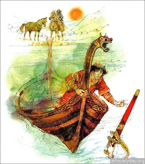 9 | Книжные иллюстрации Виктора Амбруса. Король Артур | ARTeveryday.org