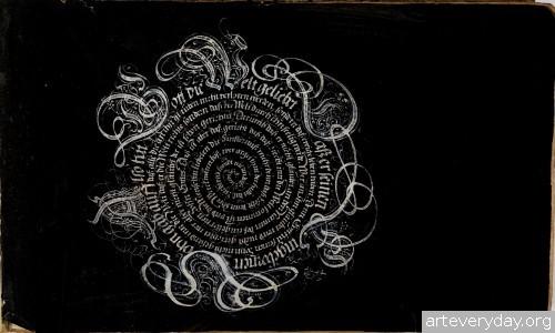 1 | Каллиграфические наброски Иоганна Геринга | ARTeveryday.org