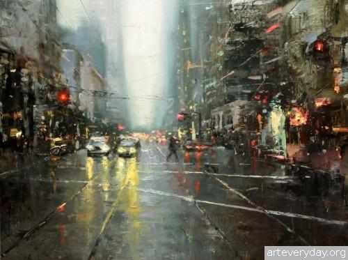 11 | Hsin-Yao Tseng - Син-Яо Цзэн. Рассвет и закат в Сан-Франциско | ARTeveryday.org