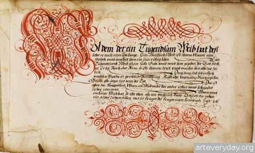 2 | Каллиграфические наброски Иоганна Геринга | ARTeveryday.org