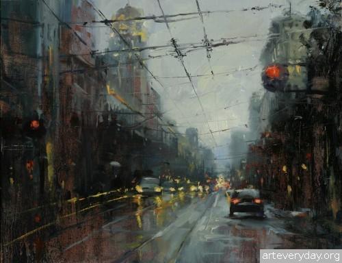 5 | Hsin-Yao Tseng - Син-Яо Цзэн. Рассвет и закат в Сан-Франциско | ARTeveryday.org