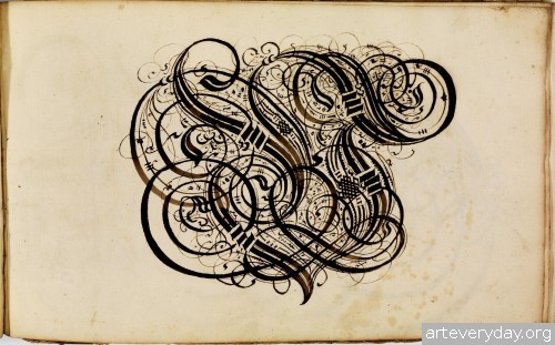 6 | Каллиграфические наброски Иоганна Геринга | ARTeveryday.org