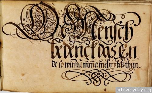 7 | Каллиграфические наброски Иоганна Геринга | ARTeveryday.org